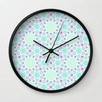 arabic Wall Clocks featuring Arabic pattern by tuditees