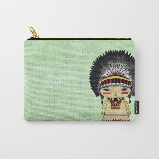 A Boy - American indian Carry-All Pouch