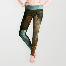 Lower Falls, Grand Canyon of the Yellowstone African American Masterpiece by Grafton Tyler Brown Leggings