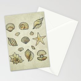 Seashells Stationery Cards