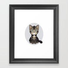 Tabby Kitten Framed Art Print