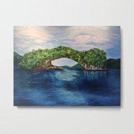 Lover's Bridge Metal Print