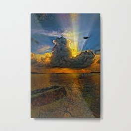Sunset on island Metal Print