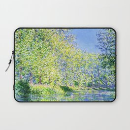 Monet: Bend in the River Epte Laptop Sleeve