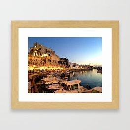 Ciutadella Harbor Framed Art Print