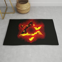UNITED STATE OF ISREAL 011 Rug