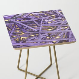 PURPLE KINDLING AND GLOWING EMBERS ABSTRACT Side Table