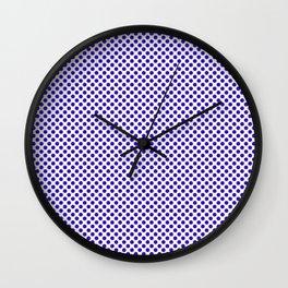 Blue Gem Polka Dots Wall Clock