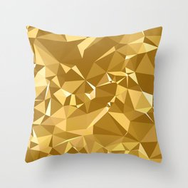 Gold Triangles Throw Pillow