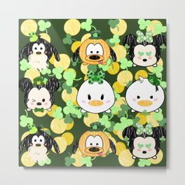 Lucky Tsum Tsum Pattern Metal Print