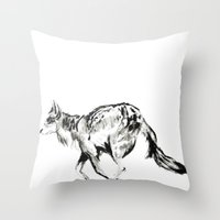 coyote Throw Pillows featuring COYOTE by ShelbyTaylor