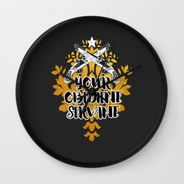Gold Duel - Your Obedient Servant Wall Clock