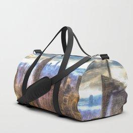 New York Manhattan Skyline Art Duffle Bag