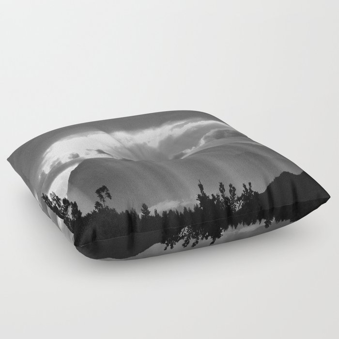 Rays From The Sky Floor Pillow