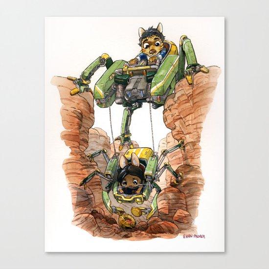 The Deep Dig Excavator Canvas Print