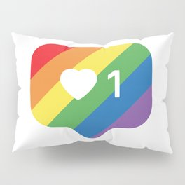 Instagram LGBTQ Heart Notification Pillow Sham