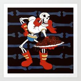 Papyrus and his Spaghetti Art Print