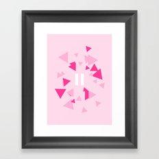 Opposite III Pause Pink Framed Art Print
