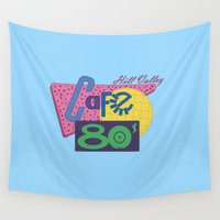 80s Wall Tapestries featuring Cafe 80s by Loku