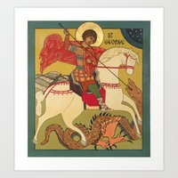 St George Icon Art Print