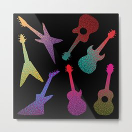 Guitars Metal Print