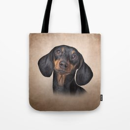 Drawing Dog breed dachshund Tote Bag
