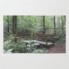 Bridge in the Woods Rug