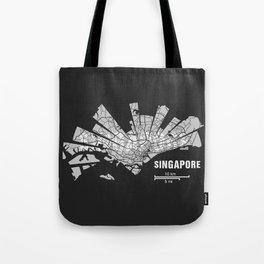 Singapore Map Tote Bag