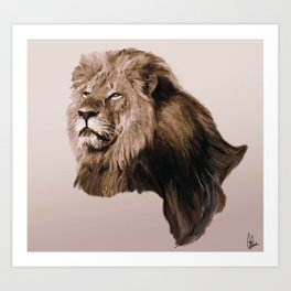 Ode to Cecil Art Print