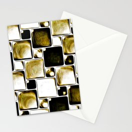 Oily color with mysterious elegance cubes Stationery Cards