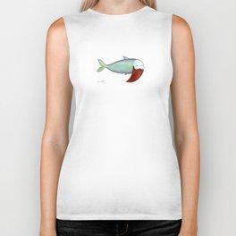 fish with beard Biker Tank