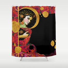 """Modern Pop Dream"" Shower Curtain"