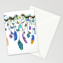 Folkestone Feather, Crystal And Butterfly Spirit Gazer Stationery Cards