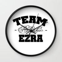 pretty little liars Wall Clocks featuring PLL - Team Ezra Pretty Little Liars by swiftstore