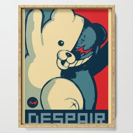 Monokuma: Vote For Ultimate Despair. A Danganronpa design Serving Tray