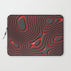 Organic Abstract 01 RED Laptop Sleeve