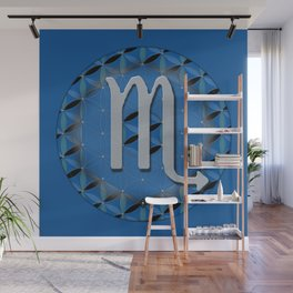 SCORPIO Flower of Life Astrology Design Wall Mural