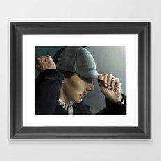 Sherlock and his deerstalker Framed Art Print