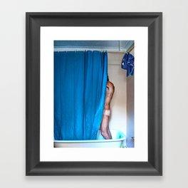 Blue Shower Framed Art Print