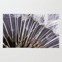 Extreme Macro Image of a Dandelion Seed Head Rug
