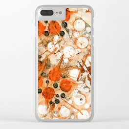 Bouncing Atoms Clear iPhone Case