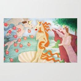 The Birth of Unicorn Rug