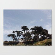 beach house on a bluff Canvas Print