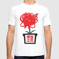 Flower of frustrations White SMALL Mens Fitted Tee