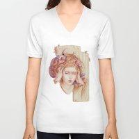 matty healy V-neck T-shirts featuring Sensory Overload by Jennifer Healy
