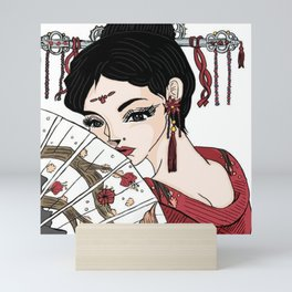 In The Eyes Of A Geisha Mini Art Print