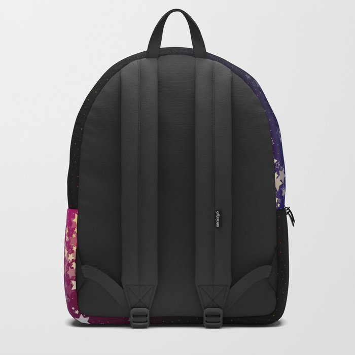 Colorful Space Rainbow Stars Backpack