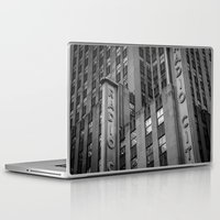 radio Laptop & iPad Skins featuring Radio City by MikeMartelli