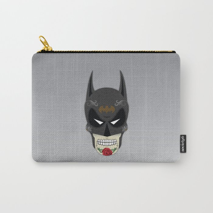 Bat-Man Sugar Skull Carry-All Pouch
