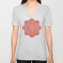 """""""Coral & Rosewood Mandala (pattern)"""" Unisex V-Neck"""